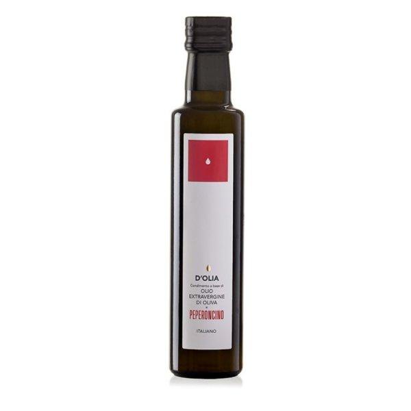 Condimento Olio Extravergine al Peperoncino, Extra Natives Olivenöl mit Chili/Peperoni, 250 ml, DOlia Sardinien