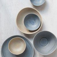 Schale aus Feinsteinzeug, rund, sand / beige, small, 11 x 5 cm, Mesapiu, Juras Sand