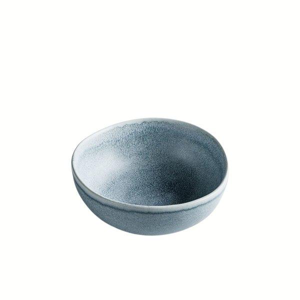 Schale aus Feinsteinzeug, rund, anthrazit / grau, small, 11 x 5 cm, Mesapiu, Juras Stone