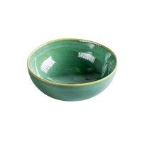 Schale aus Feinsteinzeug, rund, green / grün, small,...