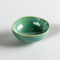 Schale aus Feinsteinzeug, rund, green / grün, small, 11 x 5 cm, Mesapiu, 3Color