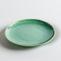 Teller aus Feinsteinzeug, rund, green / grün, small, 17 cm, Mesapiu, 3Color