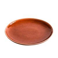 Teller aus Feinsteinzeug, rund, red / rot, small, 17 cm,...