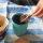 Claro, Vorratsdose / Behälter aus Bambusfaser, Lagoon / türkis, 25 cl, 8 x 8,5 cm, Ekobo