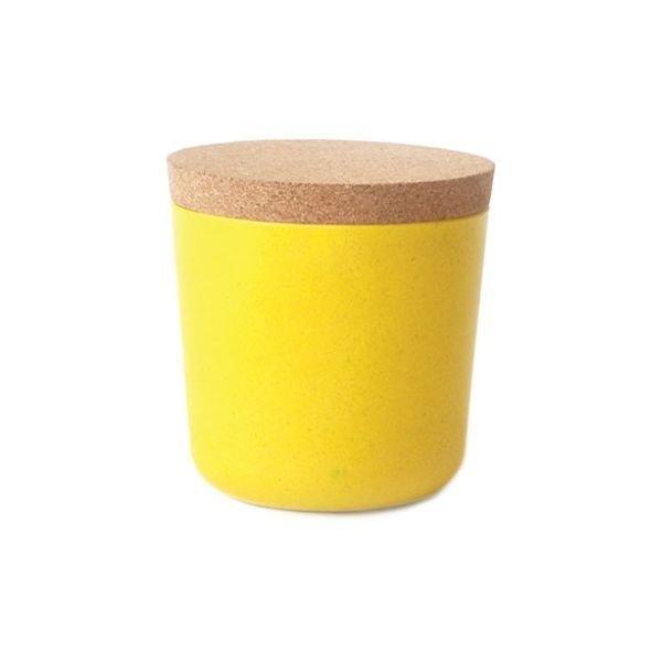Claro, Vorratsdose / Behälter aus Bambusfaser, Lemon / Gelb, 25 cl, 8 x 8,5 cm, Ekobo