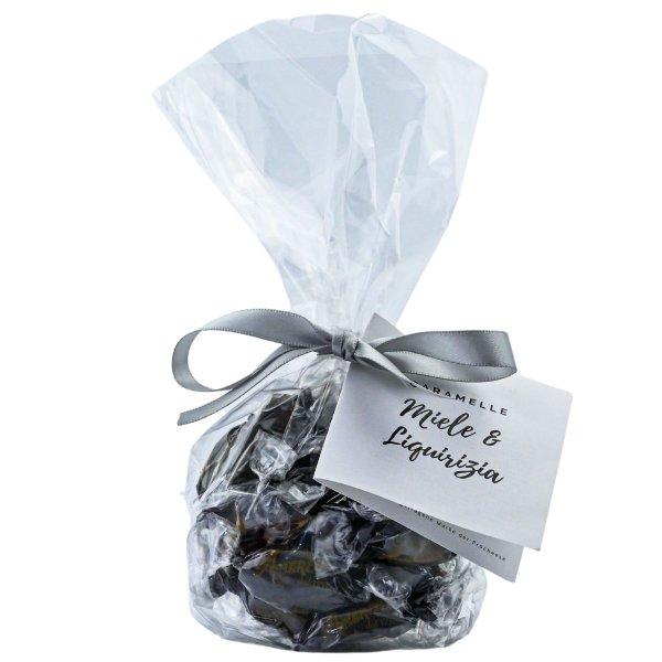 Bonbons mit Honig und Lakritz, Caramelle Miele e Liquirizia, 90 g, Amarelli Italien