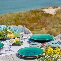 Teller für Suppe oder Pasta, Tiefer Teller, Riviera Azur, 25 cm, Costa Nova