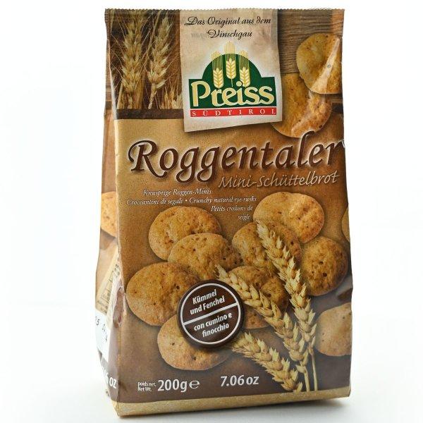 Südtiroler Roggentaler Mini-Schüttelbrot, 200 g, Preiss Südtirol
