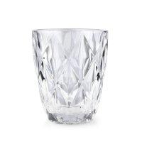Trinkglas, Wasserglas mit Rauten-Muster, Mondex, Elise...