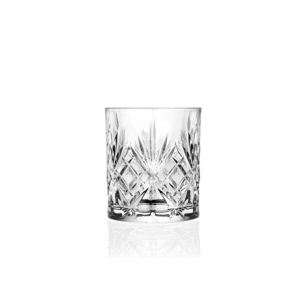 Trinkglas, Wasserglas, Tumbler mit Ornament, RCR Cristalleria Italiana, Melodia, 230 ml, 8,3 x 7,4 cm
