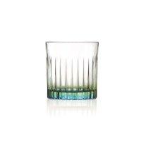 Trinkglas, Wasserglas, Tumbler mit farbigem Boden, RCR...