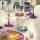 Trinkglas, Wasserglas, Tumbler mit farbigem Boden, RCR Cristalleria Italiana, Gipsy, 360 ml, 9  x 8,5 cm