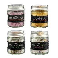 Gourmet-Salz, 4 Sorten im Paket, Kurkuma & rosa...