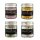 Gourmet-Salz, 4 Sorten im Paket, Kurkuma & rosa Pfeffer, Rotwein & Rosmarin, Bluten-Mix, Mediterran, 480g, Ritonka, Österreich