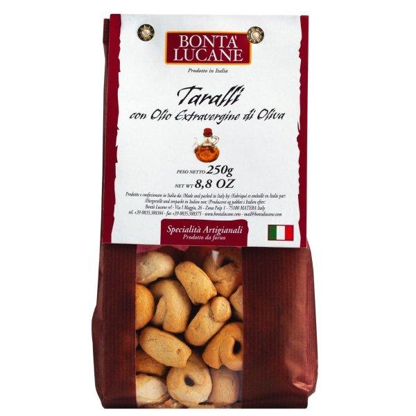 Taralli mit Olivenöl,Taralli all'olio extra vergine, Bontà Lucane, Italien