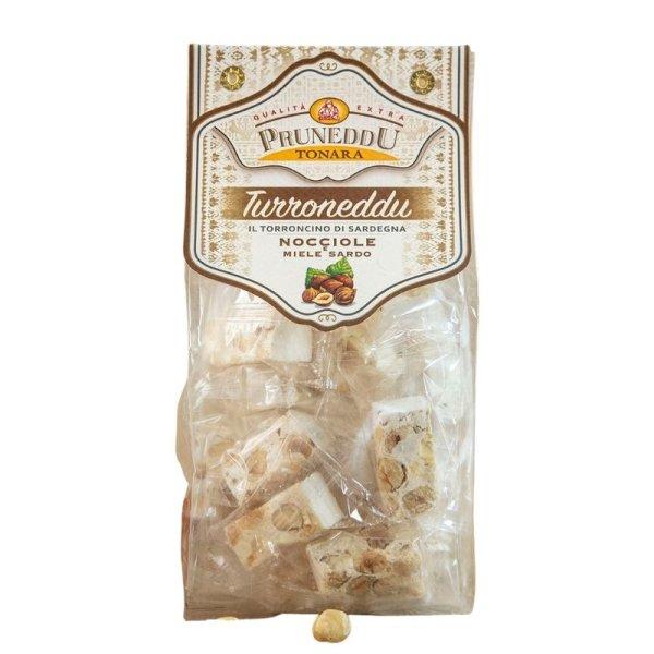 Torroncini mit Haselnüssen und Honig aus Sardinien, 200g, weißer Nougat, Torrone, Pruneddu Torronificio Artigianale
