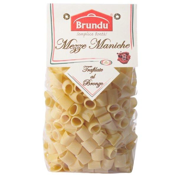 Mezze Maniche, Trafilate al Bronzo, 500g, Pasta, Nudeln, Brundu Pastifico, Luxury Line