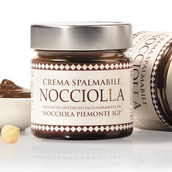 Nuss-Nougat-Creme, Crema al Gianduia, mit 40% Haselnüssen Piemont IGP, 250g, Aufstrich, Boella & Sorrisi
