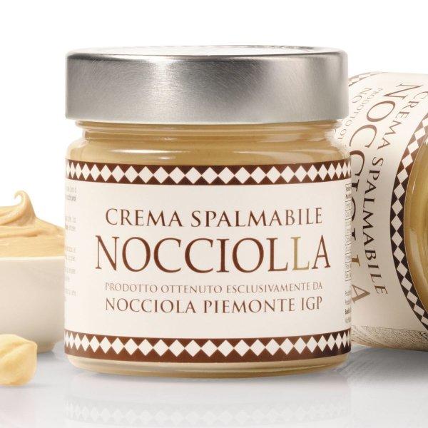 Weiße Schokoladen-Creme mit Haselnuss Piemont IGP, Crema alla Nocciola Bianco, 250g, Aufstrich, Boella & Sorrisi