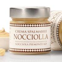 Weiße Schokoladen-Creme mit Haselnuss Piemont IGP,...