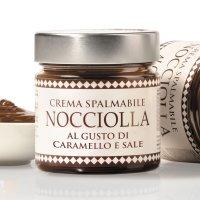 Creme mit Haselnüssen und gesalzenem Karamell, Crema Nocciola al Caramello Salato, 250g, Aufstrich, Boella & Sorrisi