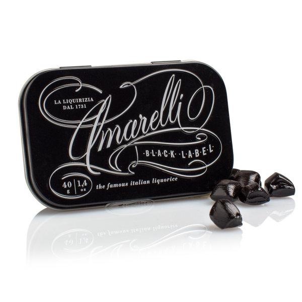 """Amarelli Spezzata """"Black Label"""" Lakritz in der Dose, 40 g, Amarelli Italien"""