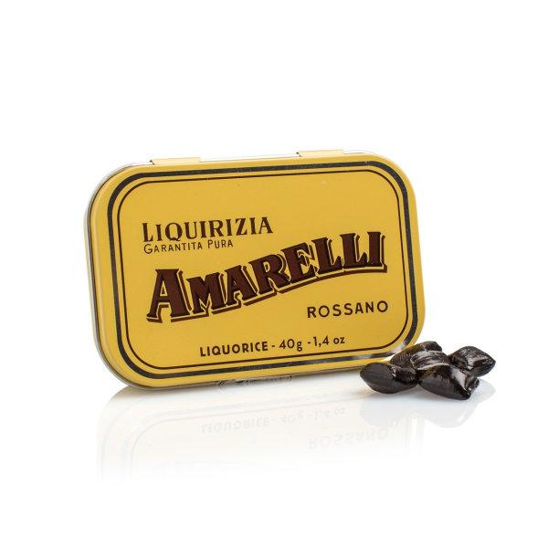 Amarelli Oro, Stücke von reinem Lakritz, nostalgische Dose, 40 g, Amarelli Italien