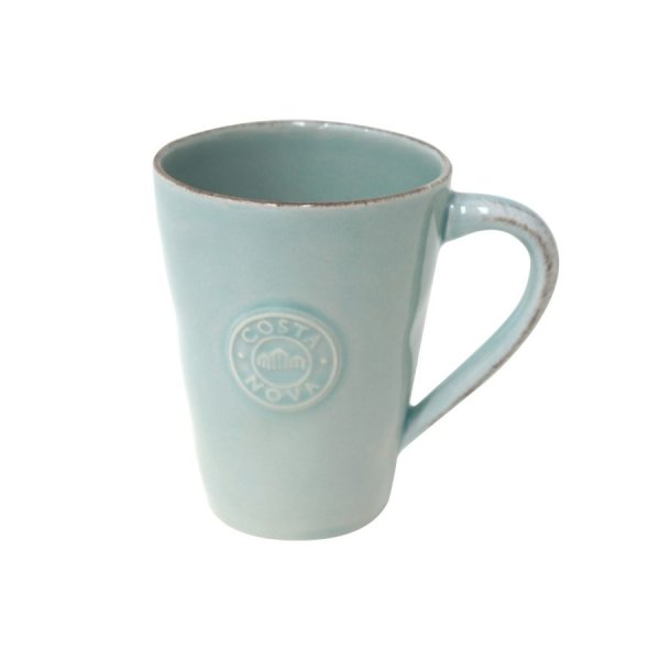 Kaffee-Becher Tasse, Türkis, Costa Nova, Nova Turqoise, 35 cl, 12 x 9 cm