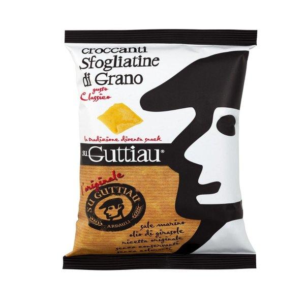 Guttiau Classico, Snack-Chips aus Sardinien, traditionelles Rezept modern interpretiert, Hartweizengrieß, 70g, Su Guttiau
