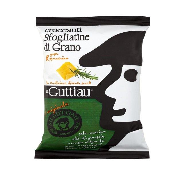 Guttiau Rosmarino, Snack-Chips aus Sardinien, traditionelles Rezept mit Rosmarin modern interpretiert, Hartweizengrieß, 70g, Su Guttiau