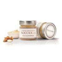 Weiße Schokoladen-Creme mit Mandeln, Crema alla...